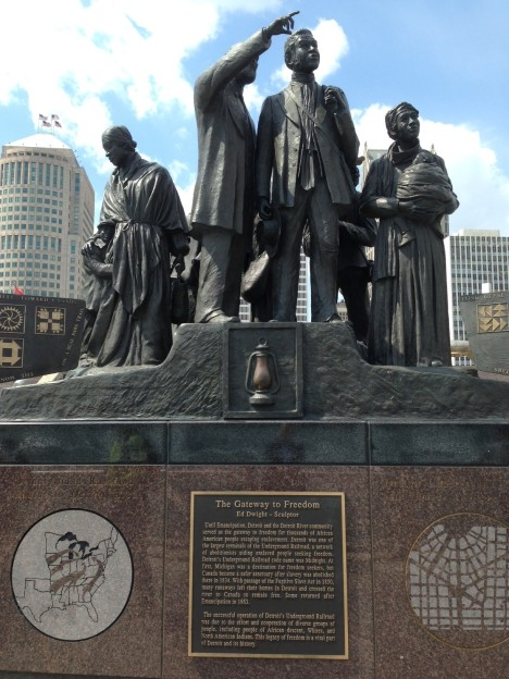 Underground Railroad Memorial in Detroit