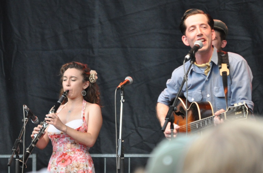 Pokey LaFarge and Chloe Feoranzo at Red Wing 07 11 14