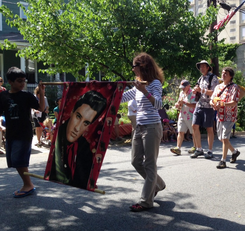 Friends of Elvis at July 4th parade in Takoma Park 2014