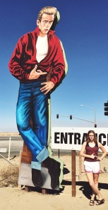 Claire with James Dean