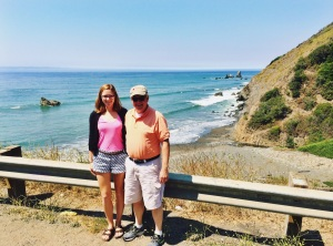 On the California Coast near Mendocino with Claire