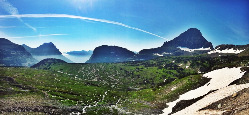Glacier panorama at Logan Pass
