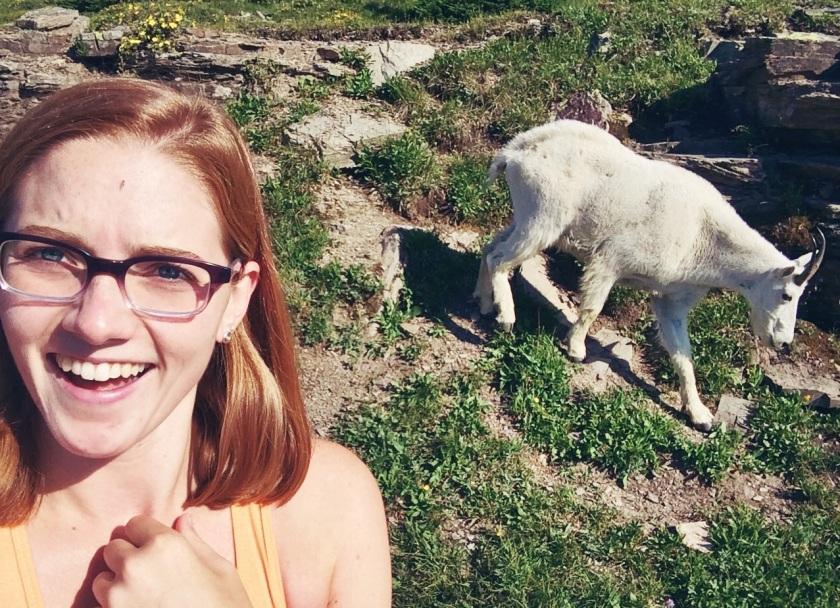 Glacier selfie by Claire