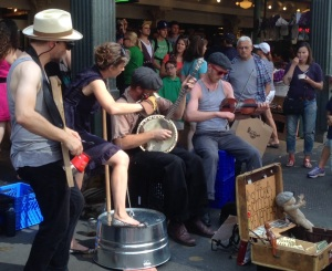 Buskers at the Pike Market in Seattle