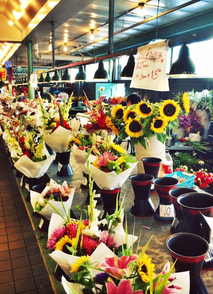 Flowers at Seattle's Pike Place Market