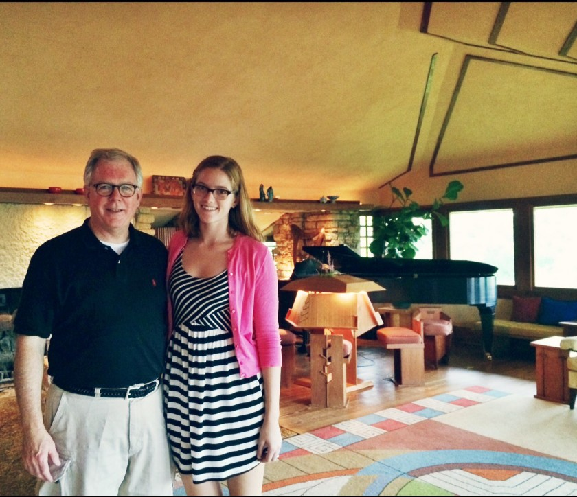 Taliesin with Claire