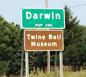 Twine Ball City Limits Sign