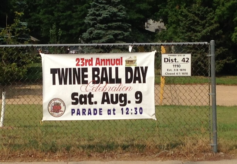 Twine Ball Day Sign 2014