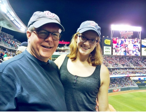 With Claire at Target Field