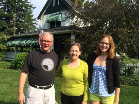 With Kathleen Crowther in Shaker Heights