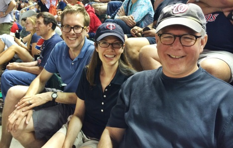 With Liz and Dave at the Twins game 08 05 14
