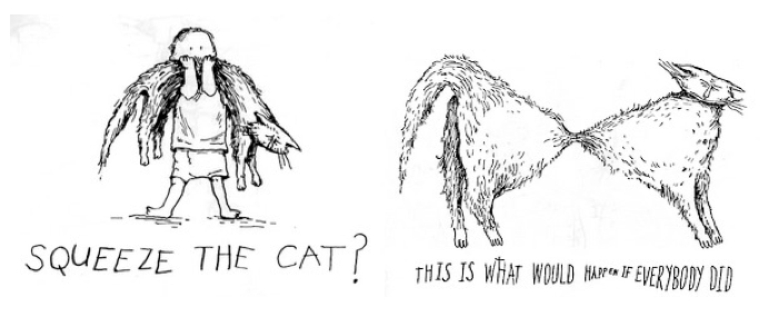 What if Everybody Squeezed the Cat?