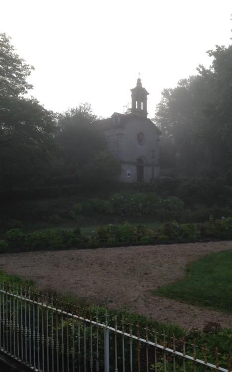 Mondariz Church in mist