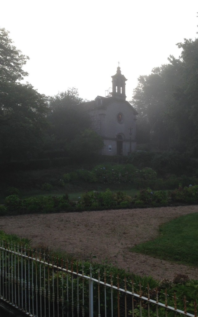 Mondariz Church in mist
