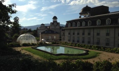 The dome over the pool at Mondariza