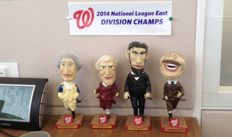 Office Bobble heads and Banner