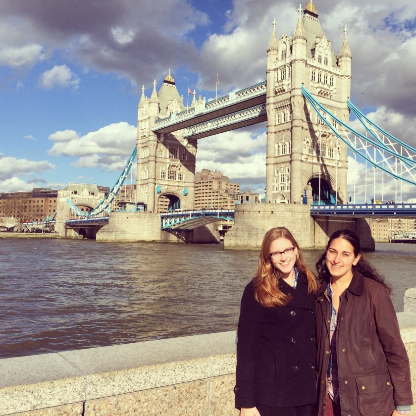 Claire and Ella at London Bridge, March 2014