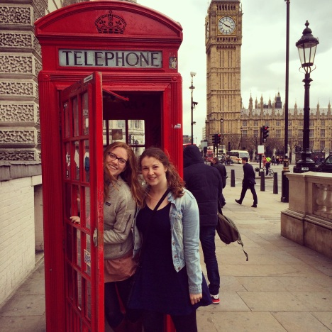 Claire and Susan in London