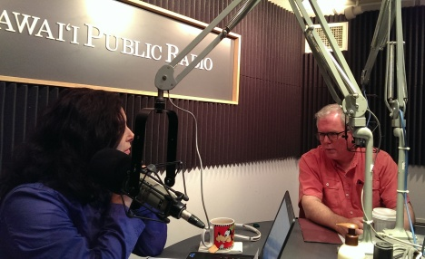 DJB during an interview on Hawaii Public Radio