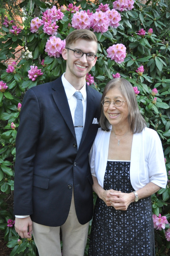 Andrew with Arlene Cole