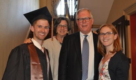 The Happy Family celebrates Andrew