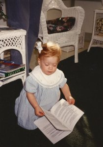 Claire at Easter 1994