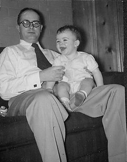Daddy and DJB, 1955
