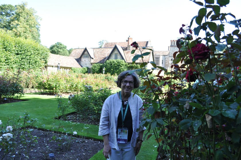 Candice in the rose gardens