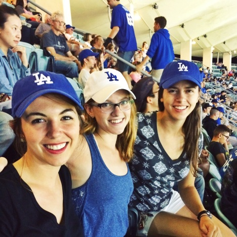 Claire at a Dodgers Game