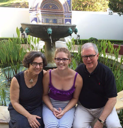 Claire, Candice, DJB at the Getty Villa