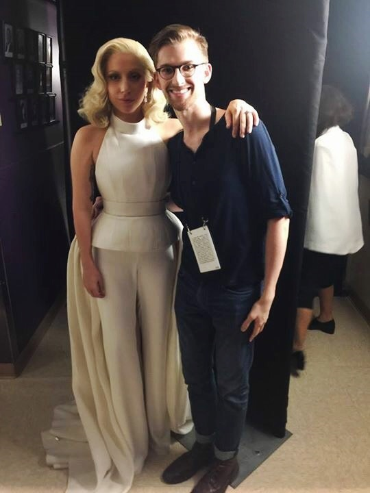 Andrew and Lady Gaga