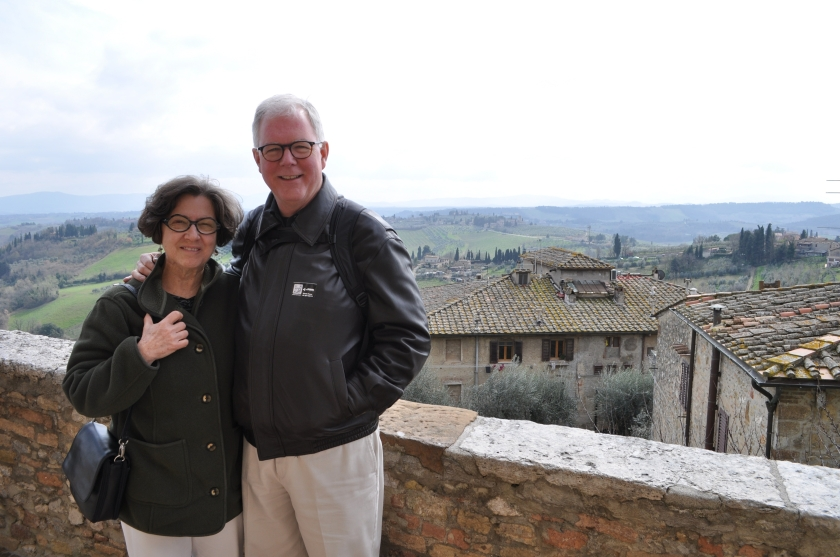 CCB and DJB in San Gimignano