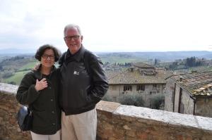 CCB and DJB in San Gimignano