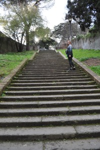 Stairs from Trastevere