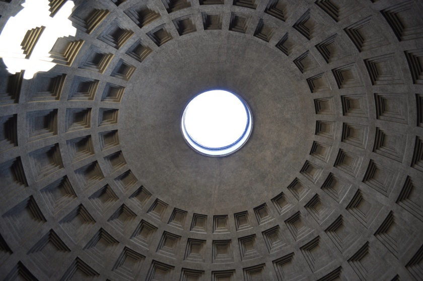 Pantheon ceiling and light
