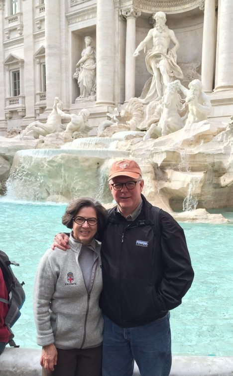 With Candice at the Trevi Fountain