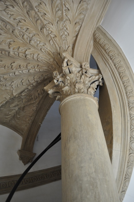 Detail of spiral staircase