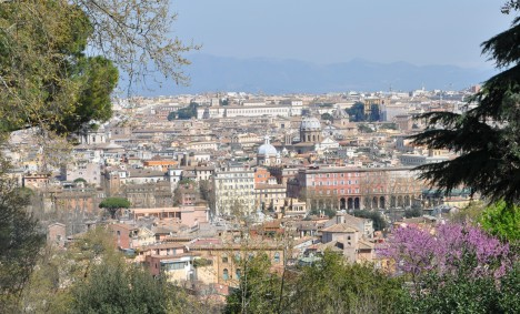 View of Rome from Villa Aurelia