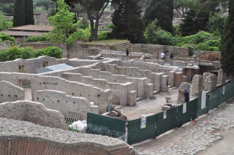 Ongoing preservation work at Ostia Antica