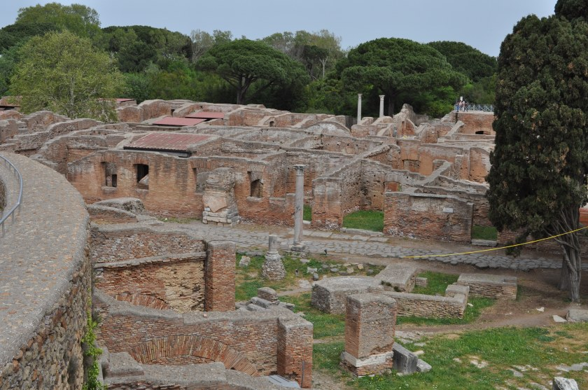 View of excavations in the center of Ostia Antica