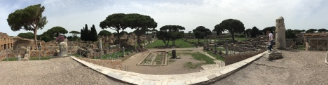 Panoramic view of the Forum