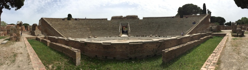 Panoramic View of the Theatre at Ostia Antica