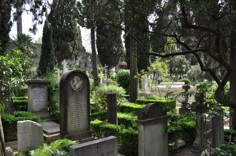 A view of the Non-Catholic Cemetery