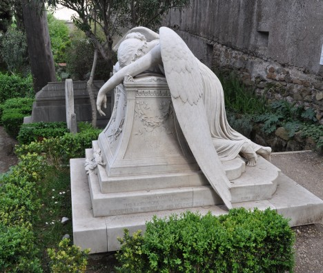 Side view of W.W. Story's Angel of Grief