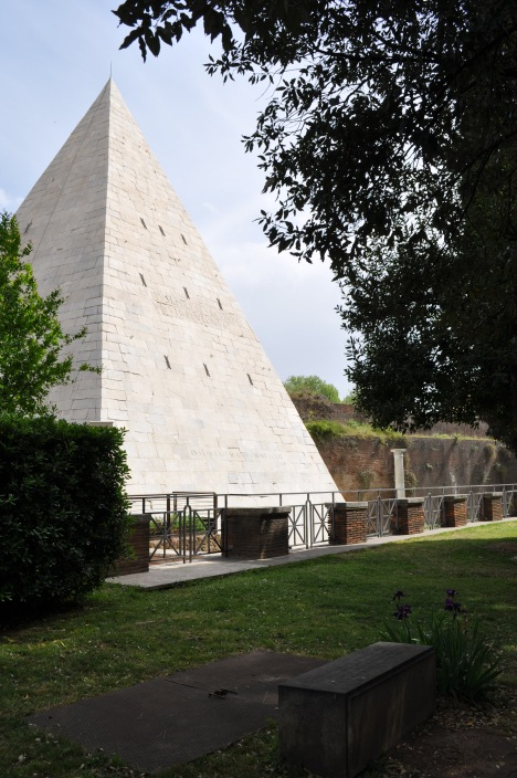 Pyramid and City Wall as seen from the Non-Catholic Cemetery
