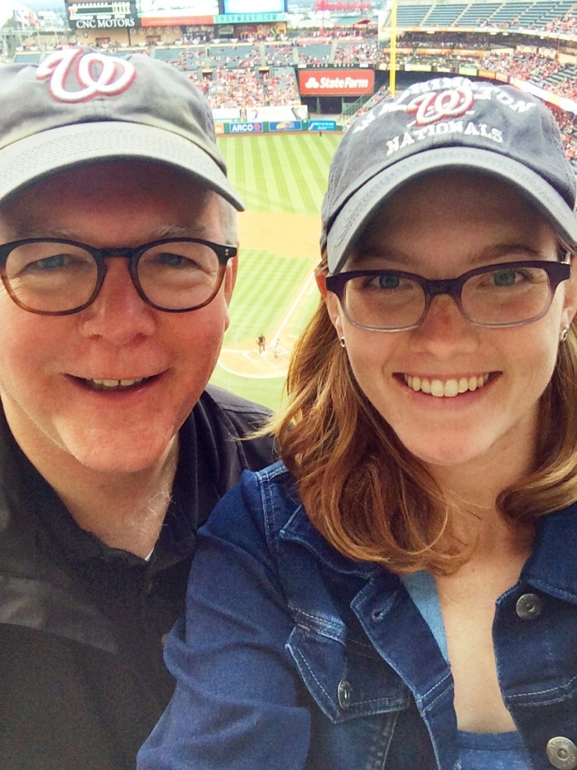 With Claire at the Big A