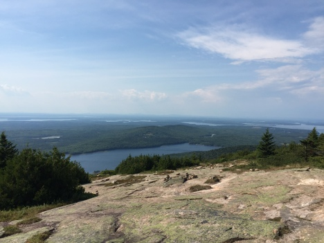 View looking west from Cadillac Mountain