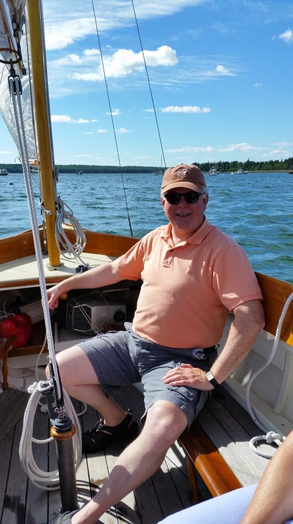 DJB at the rudder of Red Head