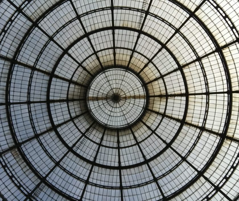 Central skylight in the Galleria