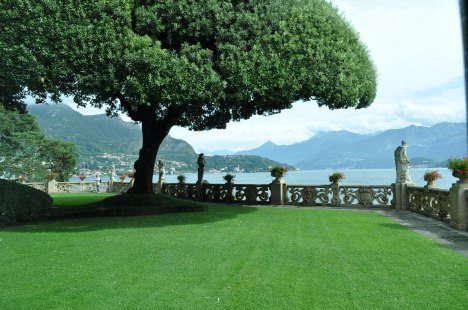 Garden view from Villa del Balbianello